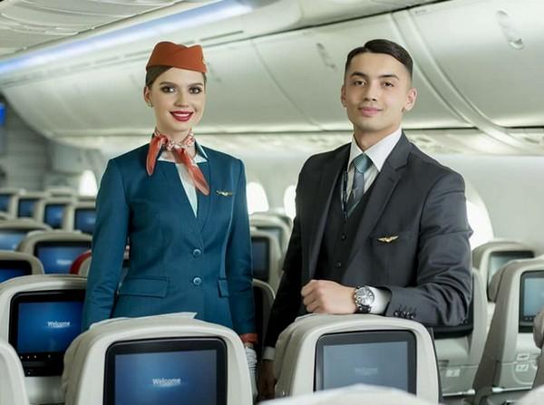 Uzbekistan Airways униформа стюардесс